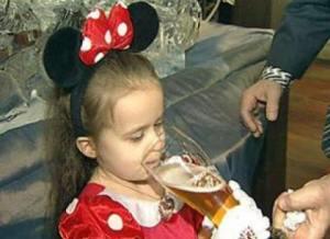 Причины детского алкоголизма